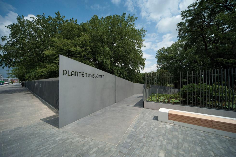 阿尔斯特湖的绿色走廊The Neue Messe Entrance to Planten un Blomen  A24 (9)