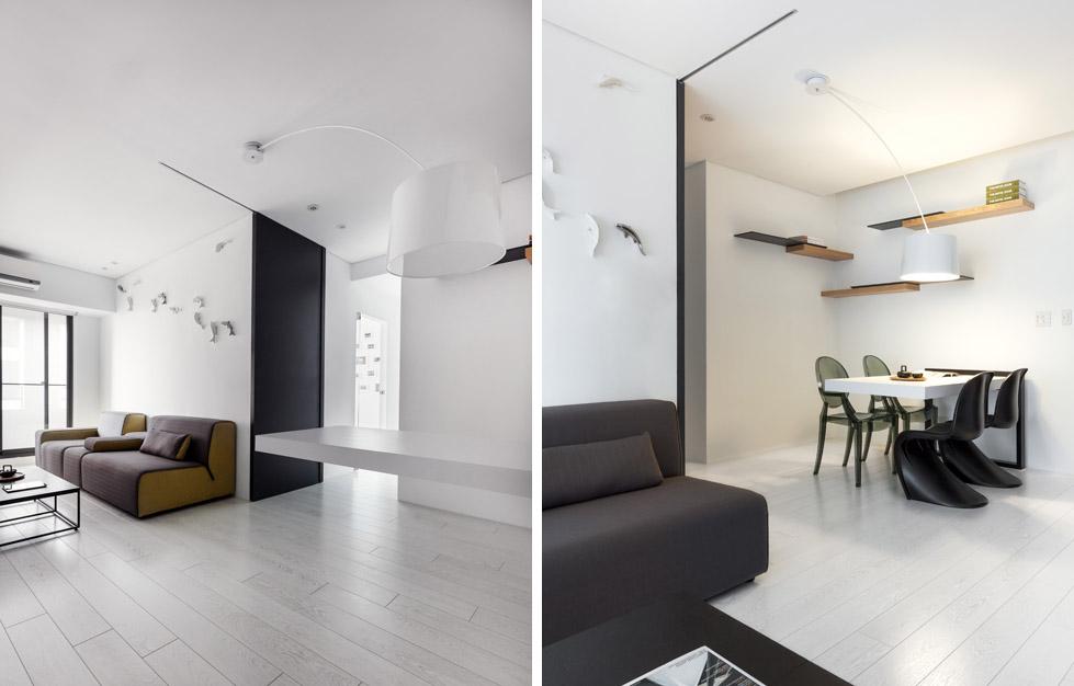 白色的小公寓The Little White Apartment  Z-AXIS DESIGN (3)