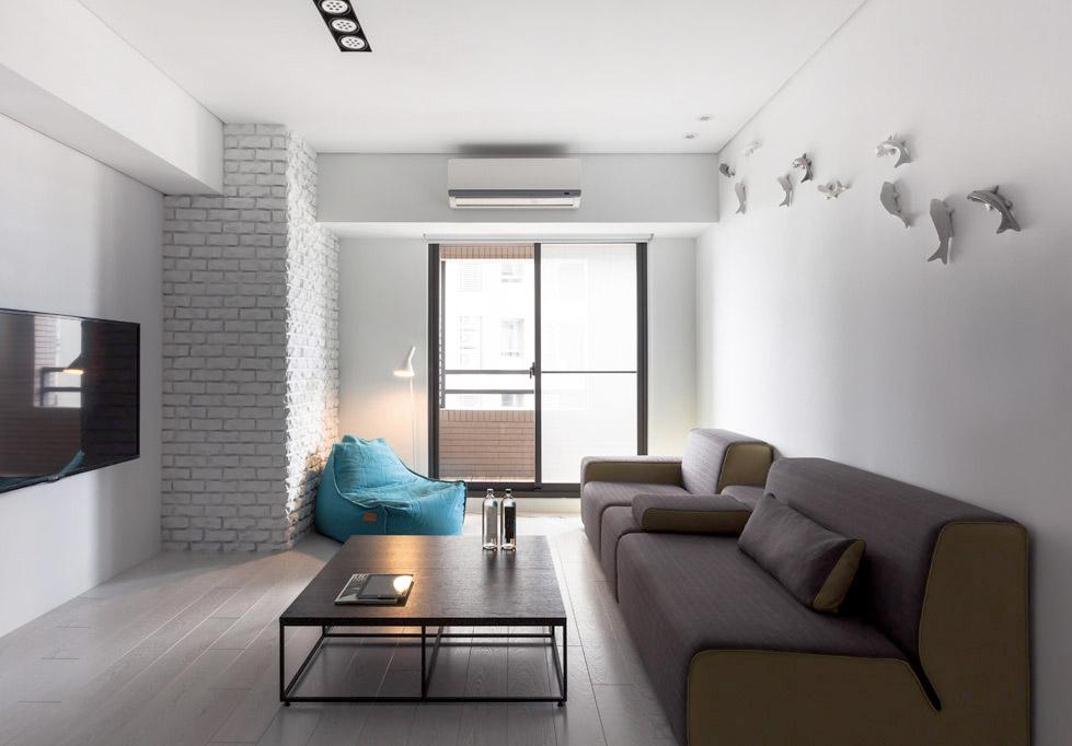 白色的小公寓The Little White Apartment  Z-AXIS DESIGN (7)