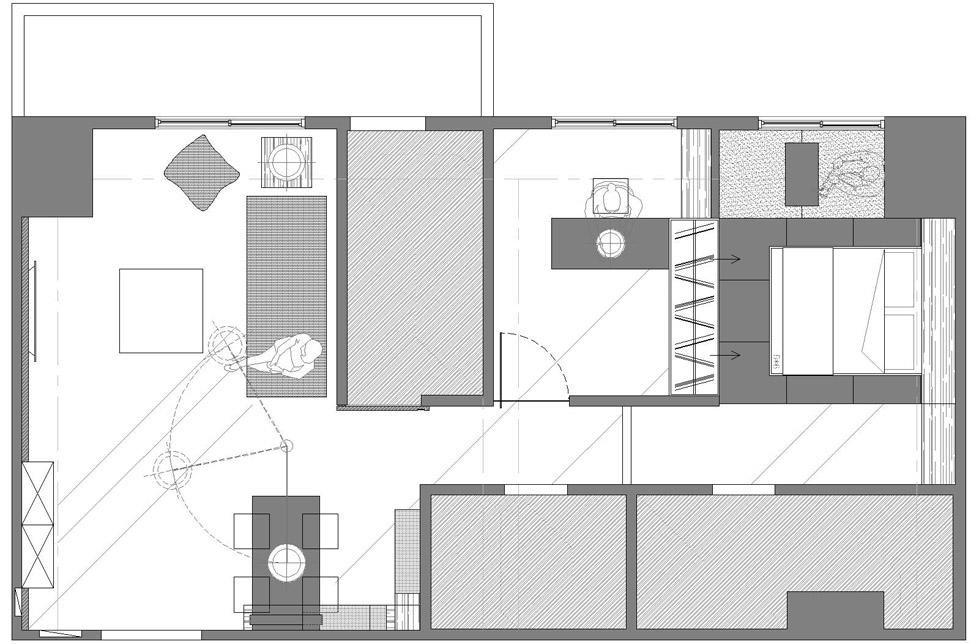 白色的小公寓The Little White Apartment  Z-AXIS DESIGN (8)